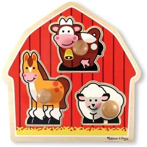 Melissa and Doug -  PUZZLE z uchwytami - Farma