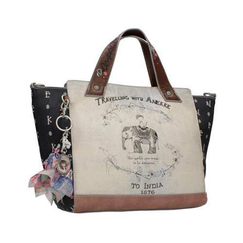 f13582ab0db0d ANEKKE Torba shopper bag z odpinanym paskiem India - sklep ene-due.eu