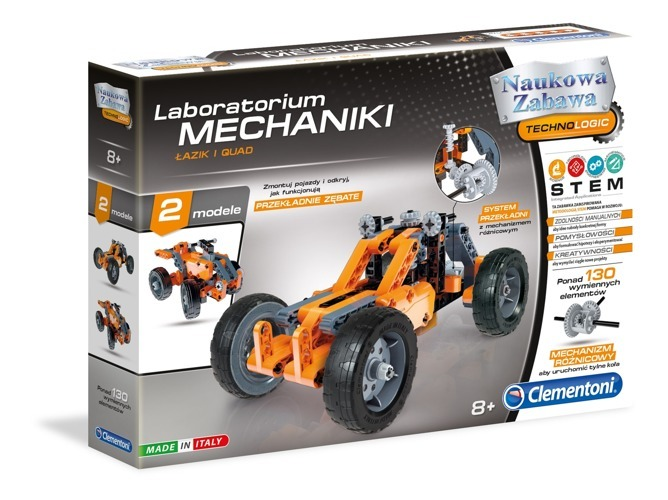 Clementoni - Laboratorium Mechaniki Łazik i Quad
