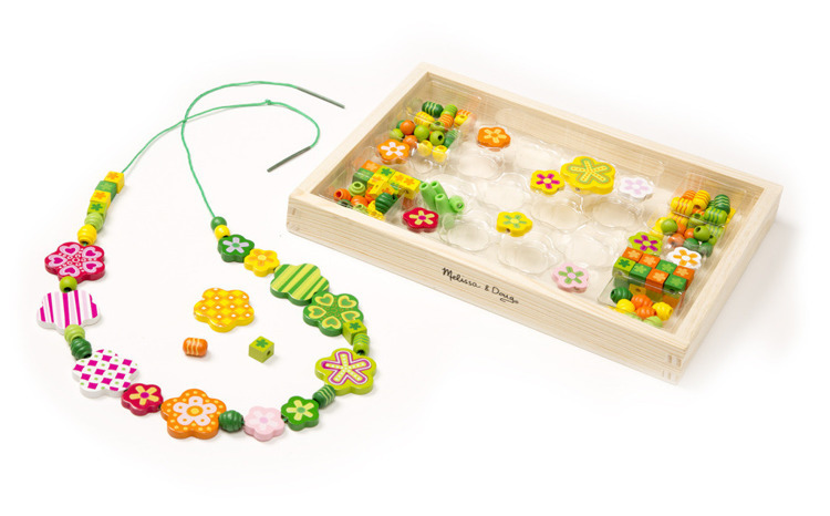 Melissa and Doug Drewniane Koraliki Flower Power